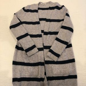 Madewell duster sweater striped